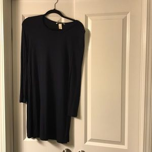 HM Long Sleeve Navy Dress Size Small